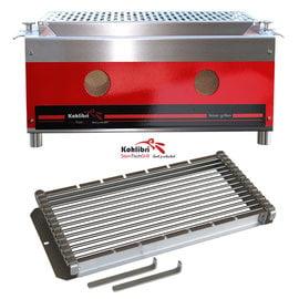 Versandmetall Kohlibri Stein Tisch Grill  red line pro