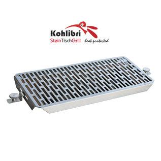 Versandmetall Universal Flachgitter-Grillrost für den Kohlibri SteinTischGrill