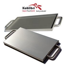 Versandmetall Universal Flach-Pfanne für den Kohlibri SteinTischGrill