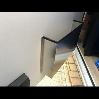 Versandmetall Deurvak, deurvak klein van 1,5 mm aluminium blank 90 ° BxHxD 250x220x85mm (25x22x8, 5cm)