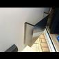 Versandmetall Türtasche, Türablage mittel, aus 1,5mm Aluminium blank  90° BxHxT 300x220x85mm (30x22x8,5cm)