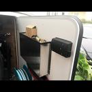 Versandmetall Poche de porte, porte-bagage grand, en aluminium de 1,5 mm vierge, 90 ° LxHxP 400x220x85mm (40x22x8, 5cm)