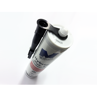 Versandmetall 8x high-tech lijm en kit -8x 290 ml, zwart