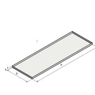 Versandmetall V4A 316L Edelstahlwanne geschweißt Materialstärke 1,5mm  600 mm x 800 mm x 20 mm Außen Schliff K320