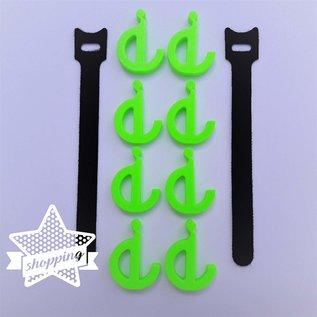 Manufaktur 3D Set van 8 hakenogen voor luifels, kleine haken voor weltrail 7 mm