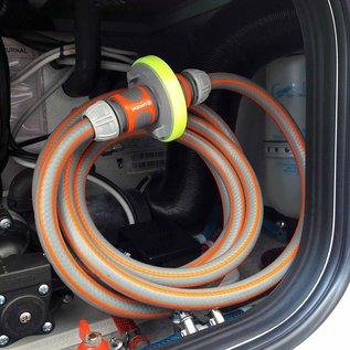 Manufaktur 3D Wassertankdeckel mit Anschluss für Gardena System,  Passend für Tankdeckel 3-Pin D:68mm
