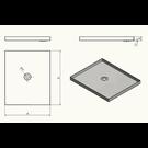 Versandmetall Receveur de douche en acier inoxydable, receveur de douche {R1A} 1,5mm, rectification intérieure K320, profondeur 700 mm, largeur 700 mm, 1 ou 2 trous de drainage, hauteur 100mm - Copy
