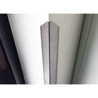 Versandmetall Sparset [ 45 Stück ] Eckschutzwinkel modern mit Spitze 3-fach gekantet, 30x30x1mm Länge 1500mm aus Edelstahl , Oberfläche einseitig mit Schliff Korn 320.
