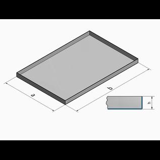 Versandmetall Roestvrijstalen kuip rij 1 hoeken gelast 1,5 mm h = 135 mm axb 500x600 mm BINNEN geslepen K320