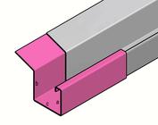 gouttière de Pluie inox type  P2 - profils de gouttière en acier inoxydable