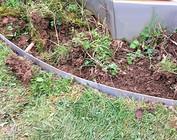 Rasenkanten, Kiesleisten mit Falz