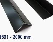 Aluminium anthracite jusqu'à 2000 mm (2,0 m) de longueur