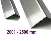 Hoekbescherming Hoeklijn Hoekstrip van roestvrij staal tot met 2.500 mm (2,5 m) Lengte