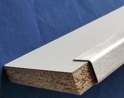 Profil encadrement acier inoxydable, pour la protection et clôture bois
