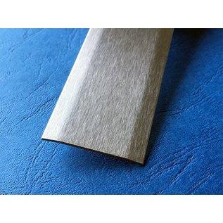 Versandmetall -Speciaal afdekprofiel van 1,0 mm roestvrij staal, tweesnijdend, eenzijdig oppervlak met slijpkorrel 320 in 120 mm breed 2500 mm lang