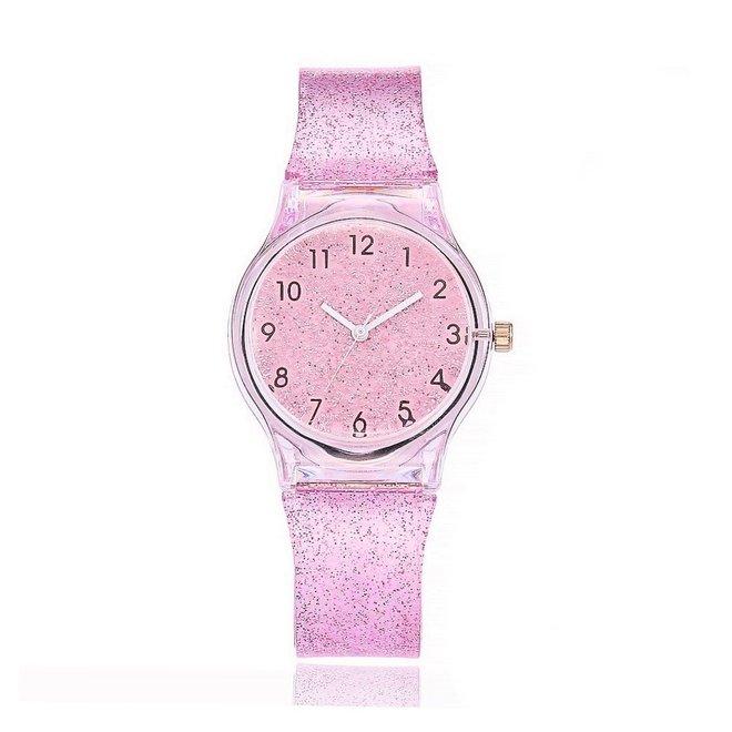 Shiny Kinderhorloge Roze | Glitter