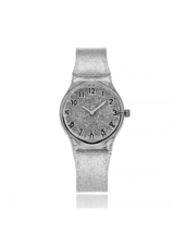 Fashion Favorite Shiny Kinderhorloge Zilver | Glitter
