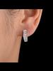 Fashion Favorite Zilveren Zirkonia V-Oorringen - 13 mm x 3 mm   Scharniersluiting