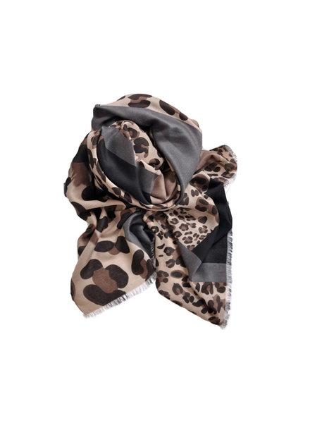 Fashion Favorite Leopard Sjaal Bruin