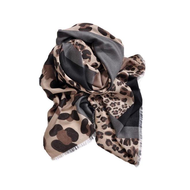 Leopard Sjaal Bruin