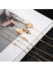 Fashion Favorite Set Armbanden World | 5 - delig | Goudkleurig | 18 cm