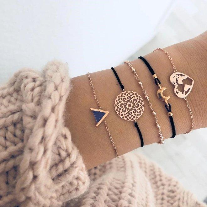 Set Armbanden Heart