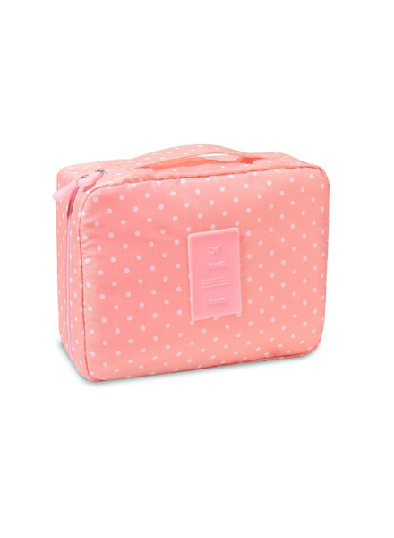 Fashion Favorite Travel 'Pink Dot' Toilettas Roze Stippen
