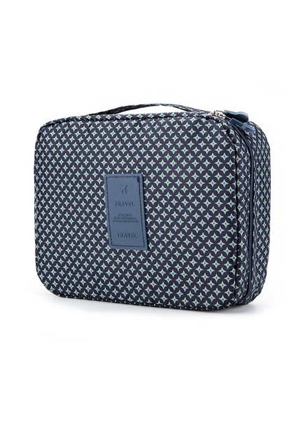 Fashion Favorite Travel 'Blue Star' Toilettas Blauw/Groen