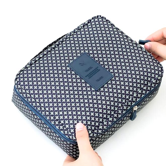 Travel 'Blue Star' Toilettas Blauw/Groen   Make Up Organizer/Travel Bag/Reistas