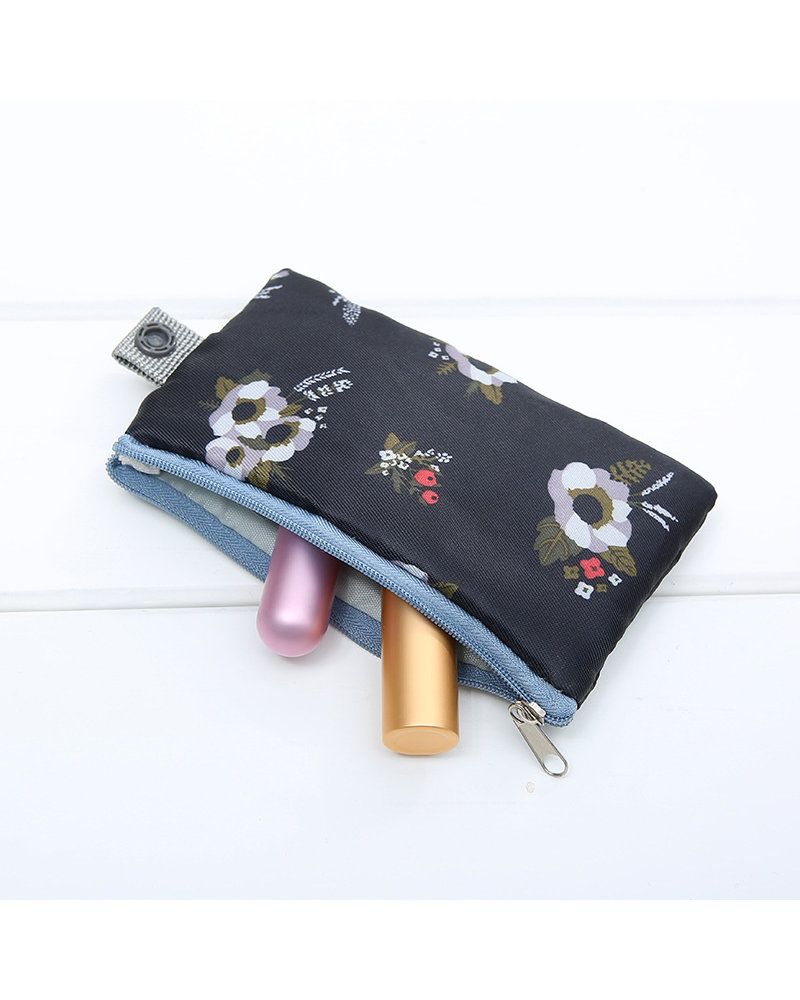 Fashion Favorite Make Up Organizer / Reistas / Toilettas | Zwart Bloemen | 23 x 17 cm