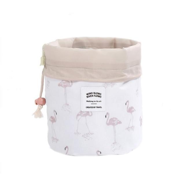 Make Up Organizer / Reistas / Toilettas   Wit Flamingo   23 x 17 cm