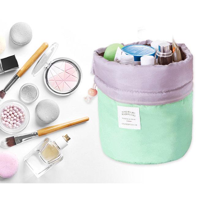 Make Up Organizer / Reistas / Toilettas - Mintgroen - 23 x 17 cm