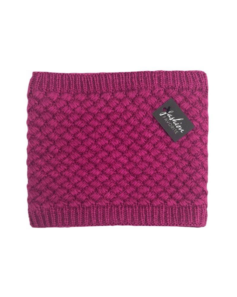 Fashion Favorite Gebreide Colsjaal Roze | Teddy Voering