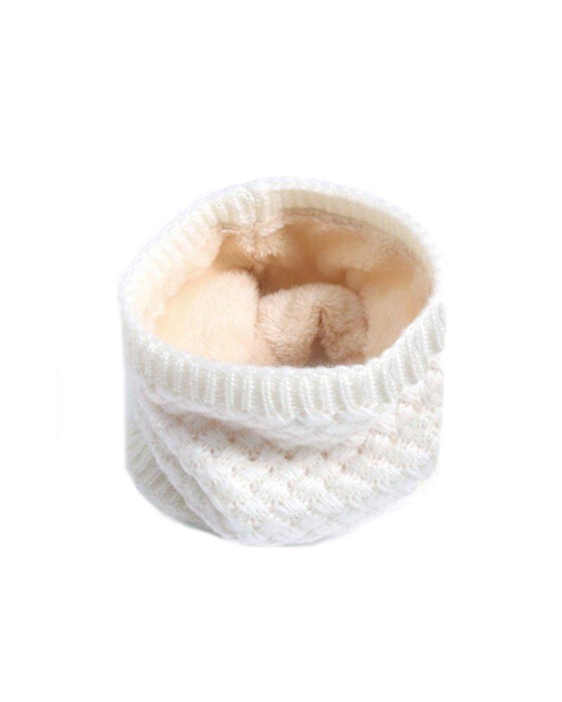 Fashion Favorite Gebreide Colsjaal Crème | Teddy Voering