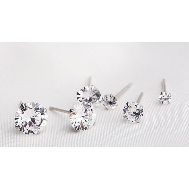 Stud Diamond Knopjes Oorbellen | Swarovski Elements | Set van 3 paar