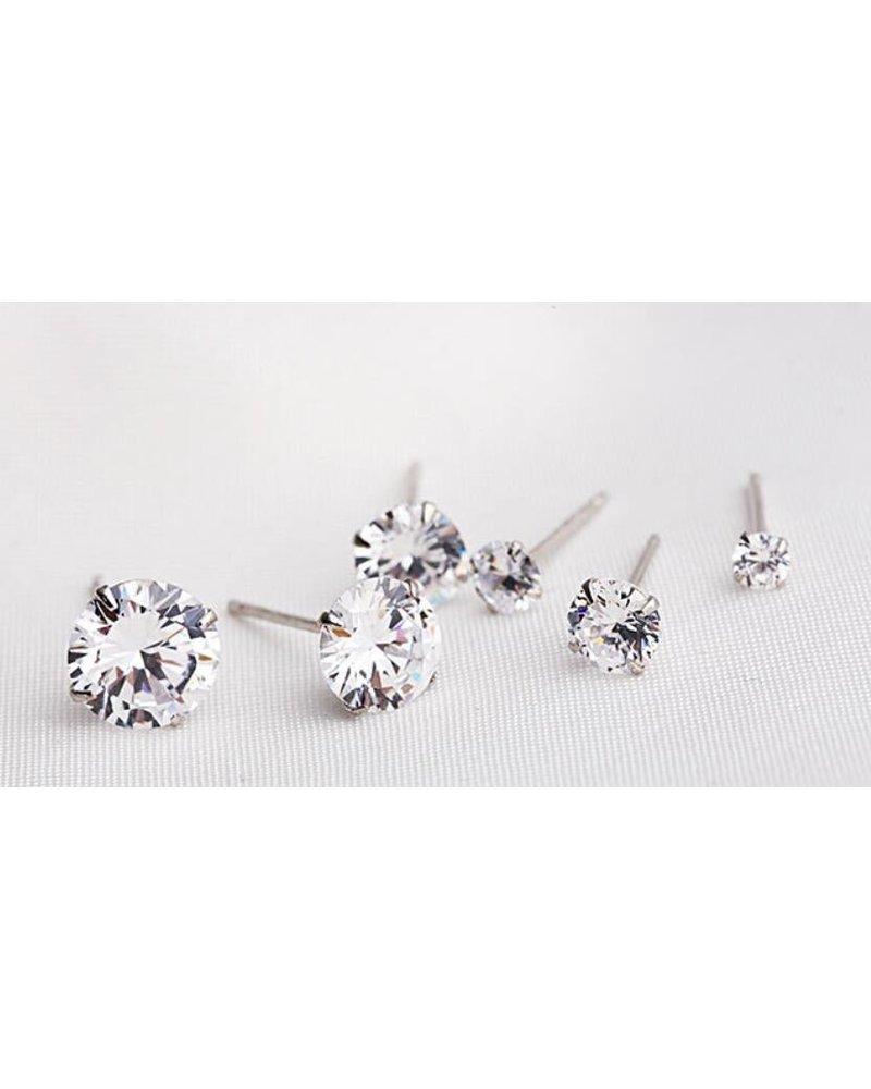 Fashion Favorite Stud Diamond Knopjes Oorbellen | Swarovski Elements | Set van 3 paar