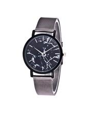 Fashion Favorite Marble Mesh Grijs/Zwart Horloge