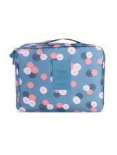 Fashion Favorite Travel 'Blue Flower' Toilettas Blauw Bloemen
