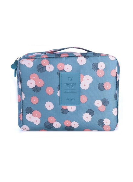 Fashion Favorite Travel 'Blue Flower' Toilettas Blauw Bloemen