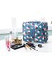 Fashion Favorite Travel 'Blue Flower' Toilettas Blauw Bloemen | Make Up Organizer/Travel Bag/Reistas