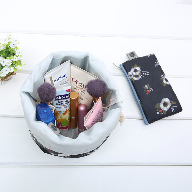 Make Up Organizer / Reistas / Toilettas | Streep Roze | 23 x 17 cm