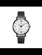 Geneva Geneva Roman Mesh Horloge - Zwart