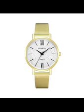 Geneva Geneva Roman Mesh Horloge - Goud