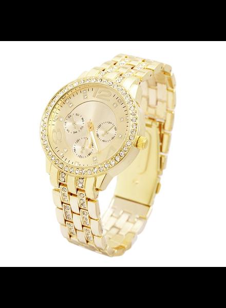 Geneva Geneva Dames Horloge | Goud & Kristal