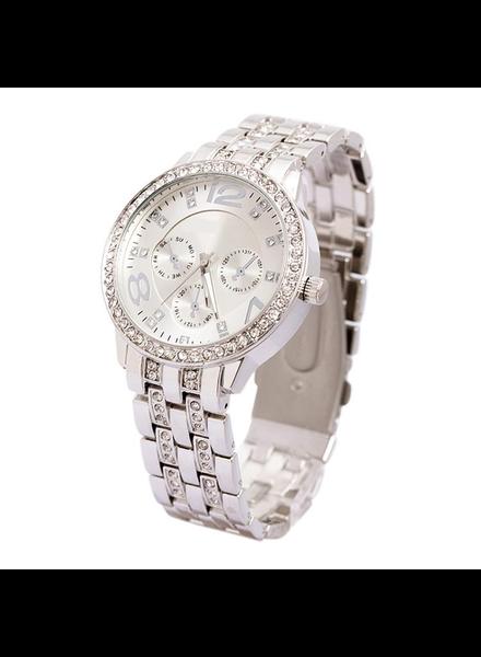Geneva Geneva Dames Horloge | Zilver & Kristal