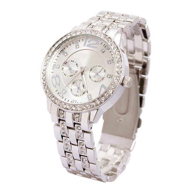 Geneva Dames Horloge | Zilver & Kristal