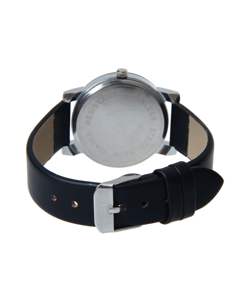 Fashion Favorite Black Quartz Horloge - PU lederen band - Rosegoud & Zwart - Ø 40 mm