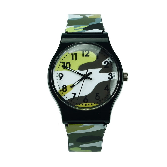 Army Kinderhorloge Groen   Camouflage/Leger