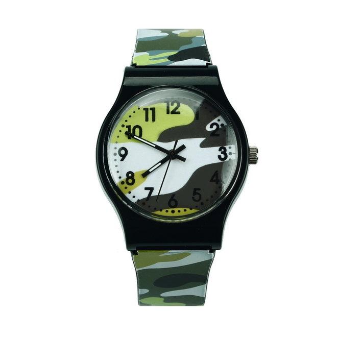 Army Kinderhorloge Groen   Camouflage/Leger   Kunststof/Plastic