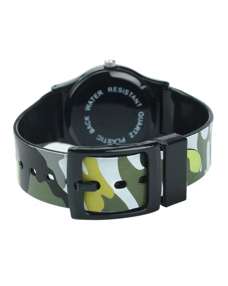 Fashion Favorite Army Kinderhorloge Groen | Camouflage/Leger | Kunststof/Plastic